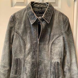 MAXIMA by Wilson Distressed Leather Jacket